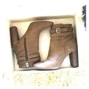 Coach Suede Tan Booties